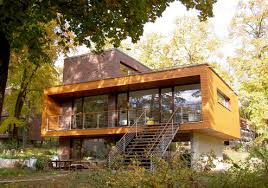 moderne holzhã user architektur skulptur moderne holzhaus klinker merk dickholzplatten
