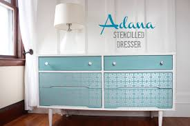 Painted Mid Century Furniture by Adana Stencilled Dresser Before U0026 After Finding Silver Pennies