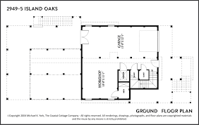 2949 5 island oaks ground outerbanks custom plans the coastal