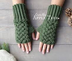 over the apple tree celtic weave fingerless gloves free pattern