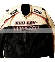 sport biker jacket harley davidson mens white motorcycle leather jacket