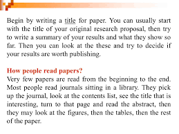 how to write a title in a paper research method in animals science part 5 ppt video online begin by writing a title for paper