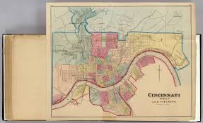 Map Of Cincinnati Cincinnati Ohio And Vicinity David Rumsey Historical Map