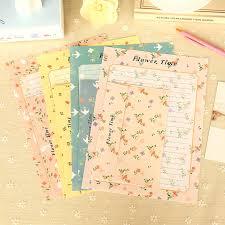 4 sets lot korean stationery romantic aestheticism floral letter