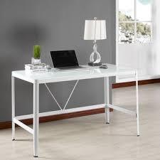 Glass Desk Office Modern Glass Desks Allmodern