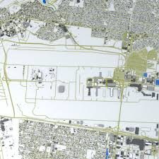 Map Of Los Angeles Airports Los Angeles Lax Airport Roads Buildings Public 3d Model 1