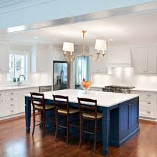 white kitchen cabinets with blue island blue island houzz