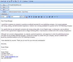 elegant cover letter email example 19 on example cover letter for