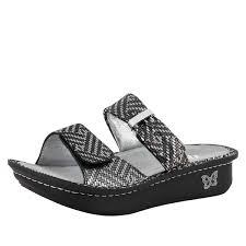 Comfort Sandals For Women Alegria Karmen Pewter Dazzler Sandals Alegria Shoes