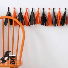 orange and black tassel garland halloween tassel garland