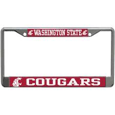 sdsu alumni license plate frame washington state cougars license plates washington state