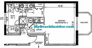 efficiency floor plans boardwalk resort floor plans panama city florida