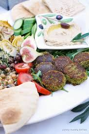 falafel recipe yummy mummy kitchen a vibrant vegetarian blog these baked vegan falafel are delicious with hummus on a mezze platter