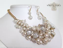 pearl crystal statement necklace images Bridal pearl statement necklace jpg
