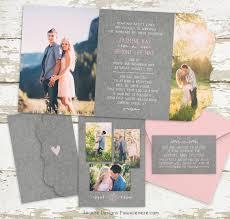 lds wedding invitations folded invitation jeneze designs