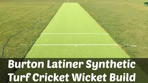 burton latiner synthetic turf cricket wicket build youtube