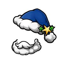 blue santa hat image gear blue santa hat beard render png unison league