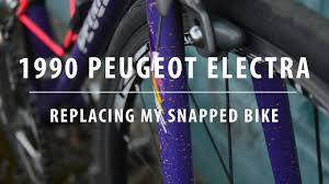 peugeot concept bike 1990 peugeot electra replacing my snapped bike daily ride