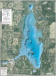 Wall Maps Nagawicka Lake Enhanced Wall Map