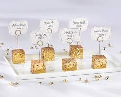 gold glitter placecard holders set of 6 kate aspen