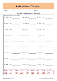 free printable worksheets for 5th grade