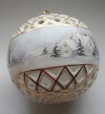 china painted porcelain ornament my handpainted porcelain