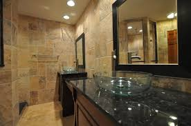 fabulous bathroom designs with travertine tiles and frameless shower