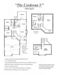 bi level floor plans with attached garage cordovan v floor plan homes
