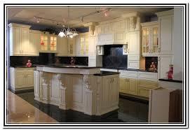 Kitchen Cabinets Antique White Antique White Kitchen Cabinets With Dark Island Home Design Ideas