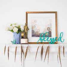 24 wide blessed wood wall words custom wooden word