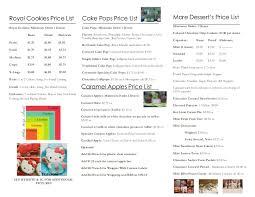 cake pop prices price list brochure
