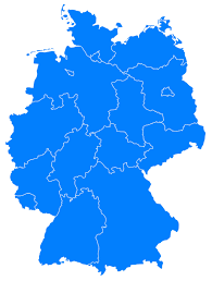 map of regions of germany map germany
