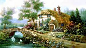 Beautiful Cottage Cottage Lake Beautiful English Home Fullscreen Wallpaper Houses