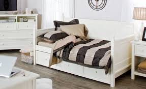White Daybed With Pop Up Trundle Daybed Cozy Dark Pergo Flooring With White Ikea Nightstand And
