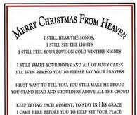 merry christmas from heaven christmas in heaven quotes pictures photos images and pics for