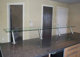 Glass Breakfast Bar Table Custom Glass Works Of Fort Mill Sc Serving North And South Carolina