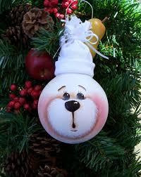 diy tree ornaments light bulbs hat