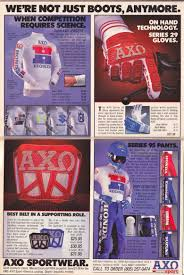 motocross jersey lettering here are some cool classic axo sport ads for your enjoyment moto