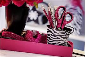 rhinestone desk accessories from hobby lobby every rock Zebra Desk Accessories