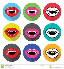 vampire mouth vampire teeth vector flat design icons set stock