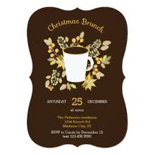 christmas brunch invitation wording christmas brunch invitations announcements zazzle