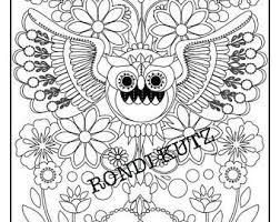 desert owl coloring page owl coloring page etsy studio