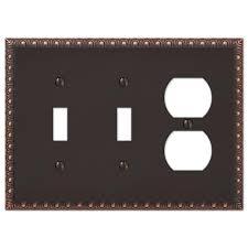 light switch covers 3 toggle 1 rocker hton bay renaissance 2 toggle 1 duplex wall plate aged bronze