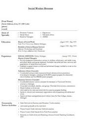 Social Work Resume Examples by Sample Social Work Resume Examples Career Social Worker
