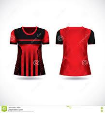 t shirt design kit jersey template stock vector image 74311750