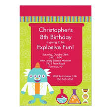 397 best science birthday party invitations images on pinterest