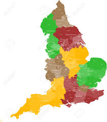 Map Of England Cities by A Large Detailed And Colored Map Of England With All Counties