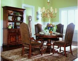 waverly place round pedestal dining table by hooker horton u0027s