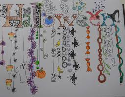 a zentangle dangle for halloween halloween zentangles