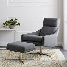 Chair With Matching Ottoman Ottoman West Elm